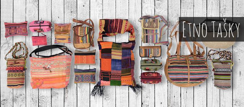 Etno tasky od vymyslu sveta. Male, velke, sadhu, brasne, vaky, ruksaky ci penazenky