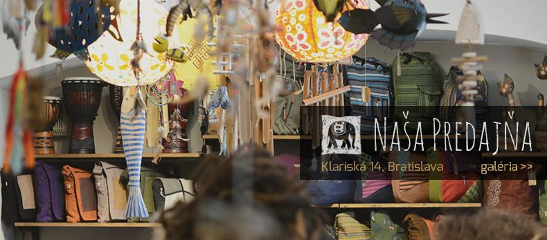 Nasa predajna v Bratislave na Klariskej ul. 14